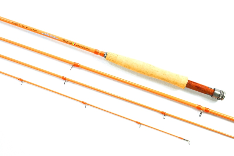 Torpedo fishing tackle italian style fly for Fiberglass fishing rods
